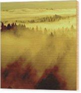 Morning In Spokane Wood Print
