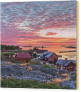 Morning In The Archipelago Sea Wood Print