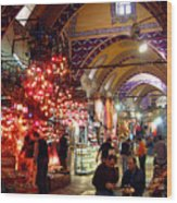 Morning In The Grand Bazaar Wood Print