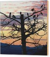 Morning In The Rockies Wood Print