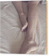 Morning Legs Stretching Wood Print by Tos Photos