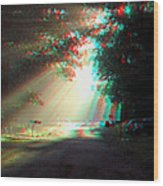 Morning Light - Use Red-cyan 3d Glasses Wood Print