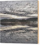 Morning Light At Saari-soljonen 1 Wood Print