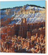 Morning Light At Sunset Point In Bryce Canyon Wood Print