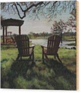Morning Light At The Vineyard Florence Texas Wood Print
