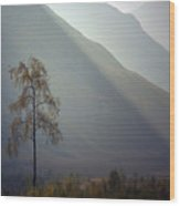 Morning Light Glen Etive Wood Print
