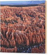 Morning Light In Bryce Canyon Wood Print