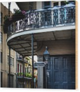 Morning Light In The French Quarter Wood Print
