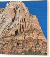 Morning Light In Zion Canyon Wood Print