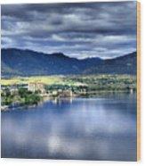 Morning Light On Okanagan Lake Wood Print