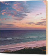Morning Light On Rosemary Beach Wood Print