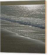 Morning Light On Sandown Beach Wood Print