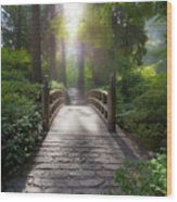 Morning Light On The Bridge Wood Print