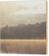 Morning Light Over The Mountains Wood Print by Stephanie McDowell