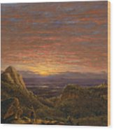 Morning Looking East Over The Hudson Valley From The Catskill Mountains Wood Print