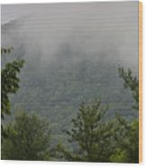 Morning Mist Bluestone State Park West Virginia Wood Print