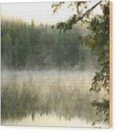 Morning Mists Wood Print