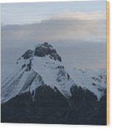 Morning Mountain Snow Wood Print