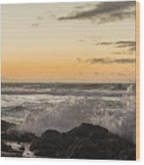 Morning Ocean Mist Wood Print