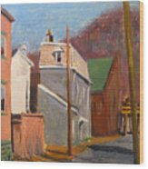 Morning On 50th Street Wood Print by Martha Ressler