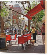 Morning On A Street In Tel Aviv Wood Print