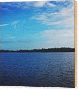 Morning On Bass Lake Wood Print