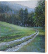 Morning On Blue Mountain Road Wood Print