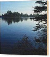 Morning On Chad Lake Wood Print