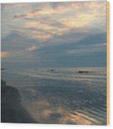 Morning On The Beach Wood Print