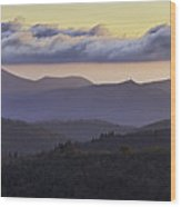 Morning On The Blue Ridge Parkway Wood Print