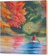 Morning On The Lake Wood Print