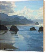 Morning On The Oregon Coast Wood Print