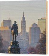 Morning On The Parkway - Philadelphia Wood Print