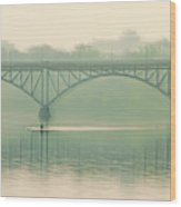 Morning On The Schuylkill River - Strawberry Mansion Bridge Wood Print