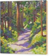 Morning On The Trail 3 Wood Print