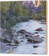 Morning On The Virgin River Wood Print
