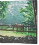 Morning Pasture Wood Print