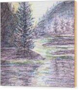 Morning Pine Wood Print