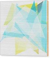 Morning Polygon Pattern Wood Print