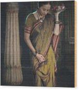 Morning Pooja Wood Print
