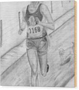 Morning Race Wood Print