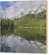 Morning Reflection On String Lake Wood Print