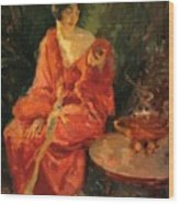 Morning Reflections 1910 Wood Print