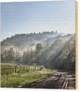 Morning Ride Wood Print