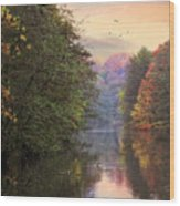 Morning River View  Wood Print