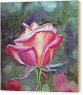 Morning Rose Wood Print