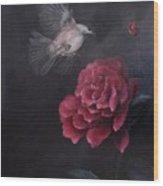 Morning Rose Wood Print