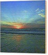 Morning Sea Foam Wood Print