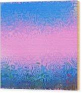 Morning Sea Fog.cold Water Wood Print