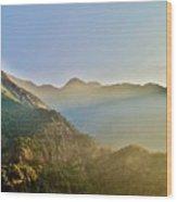 Morning Shadows In The Himalayas Wood Print